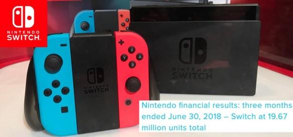 Nintendo - Resultado Financeiro do Primeiro Trimestre de 2018