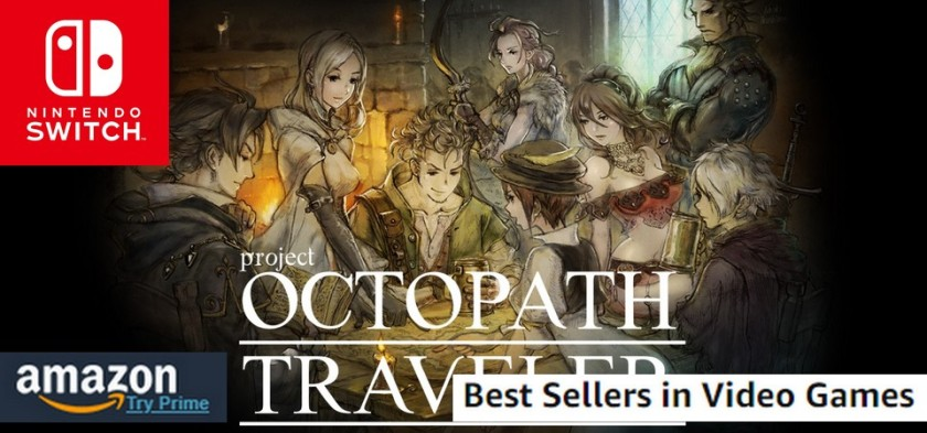 Octopath Traveler é um fenômeno da Amazon - Best Sellers Games da Amazon (07 15 18)