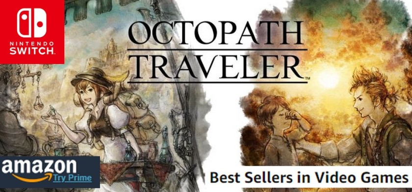 Octopath Traveler domina Best Sellers Games da Amazon
