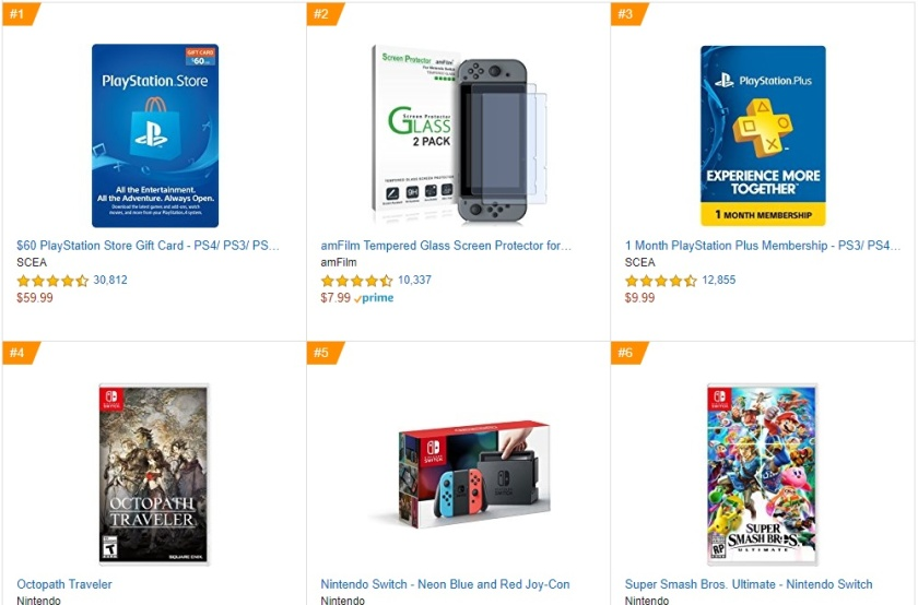 Octopath Traveler em 1º lugar nos Best Sellers Games da Amazon