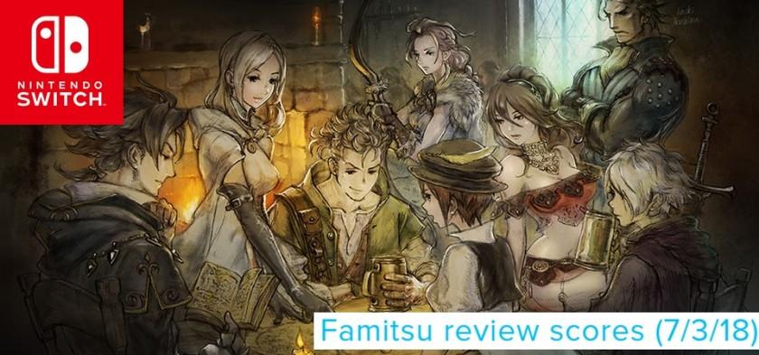 Octopath Traveler em destaque no Famitsu Review Scores (7 3 18)