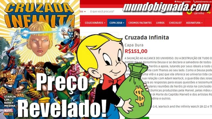 Preço de Cruzada Infinita Encadernado da Panini é Revelado - BIGNADA NEWS