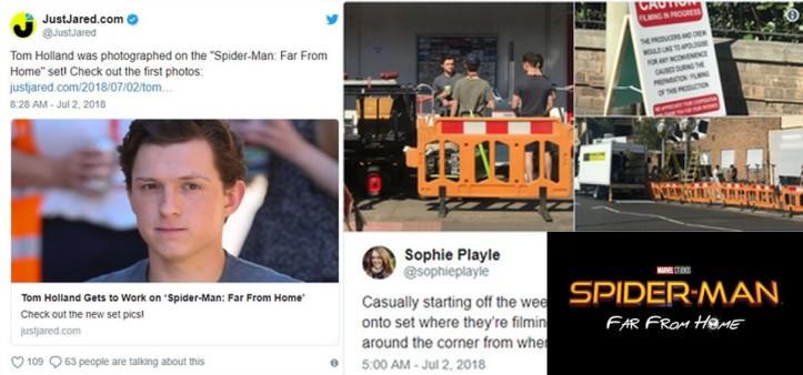 Spider-Man Far From Home tem primeiras fotos do set reveladas