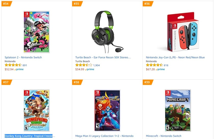 Top 10 Amazon - Splatoon 2