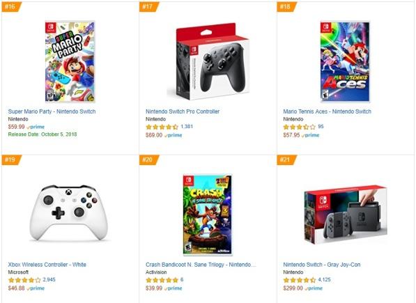 Top 6 7 8 - Super Mario Party, Mario Tennis Aces, Crash Bandicoot N Sane Trilogy