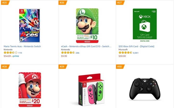 Top 8 Amazon - Mario Tennis Aces