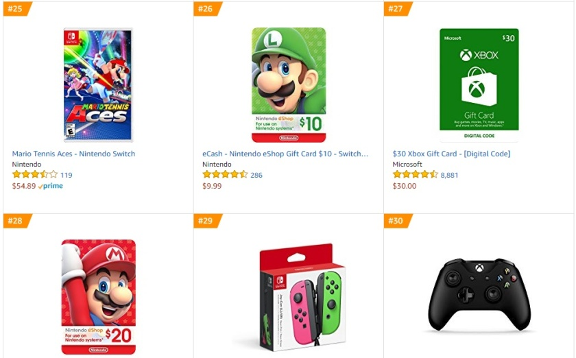 Top 8 Amazon - Mario Tennis Aces