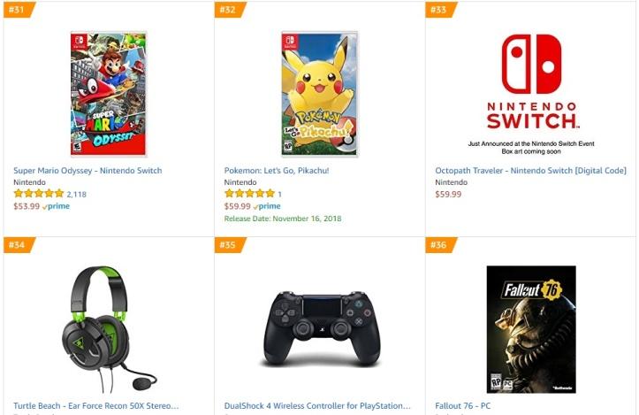 Top 9 10 Amazon - Super Mario Odyssey Pokemon Let´s Go Pikachu