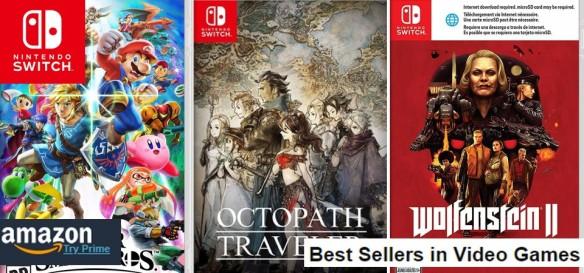 Top Amazon Sales (01 07 2018) - Super Smash Bros Ultimate, Octopath Traveler, Wolfenstein II