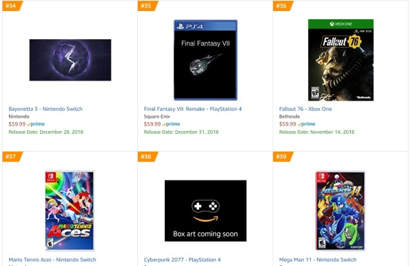 Amazon - Bayonetta 3 Best Sellers Games