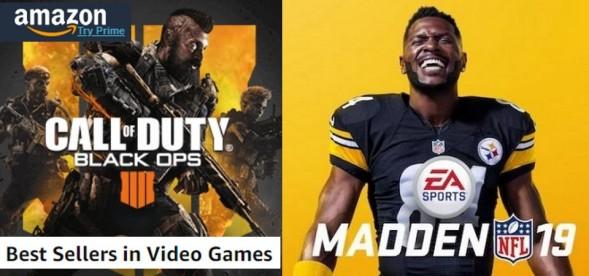 Amazon Best Sellers (08 05 18) - Call of Duty e Madden tomam a liderança