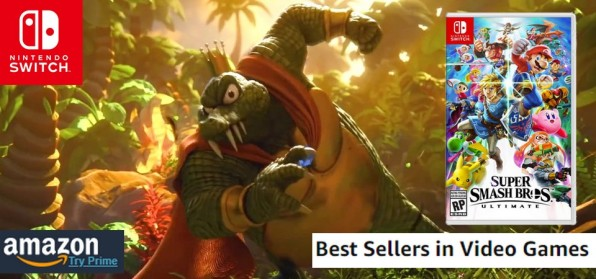 Amazon Best Sellers (08 12 18) - Super Smash Bros Ultimate volta a reinar nas vendas