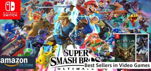 Amazon Best Sellers (08 19 18) - Super Smash Bros continua reinar! Diablo III e Monster Hunter Generations Ultimate entram no TOP 10