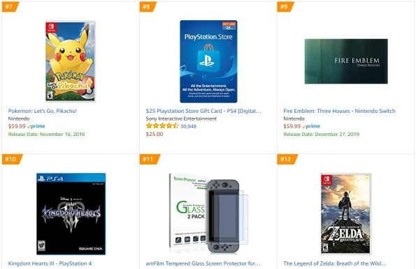 Amazon - Fire Emblem Three Houses Best Sellers Games