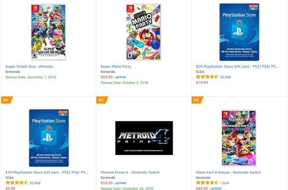 Amazon - Metroid Prime 4 Best Sellers Games