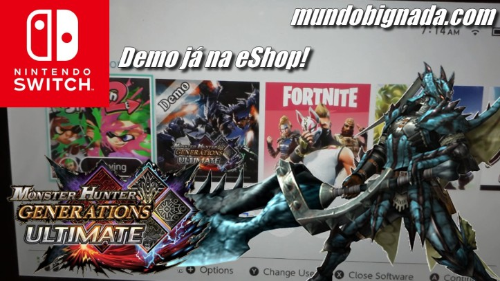 Demo de Monster Hunter Generations Ultimate (Switch) já disponível na eshop - SWITCH NEWS