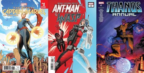 Destaques do Porco-Aranha #14 - Capitã Marvel, Homem-Formiga e Vespa e Thanos