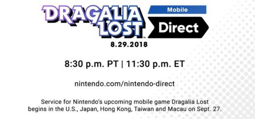Dragalia Lost Mobile Nintendo Direct 08 29 2018