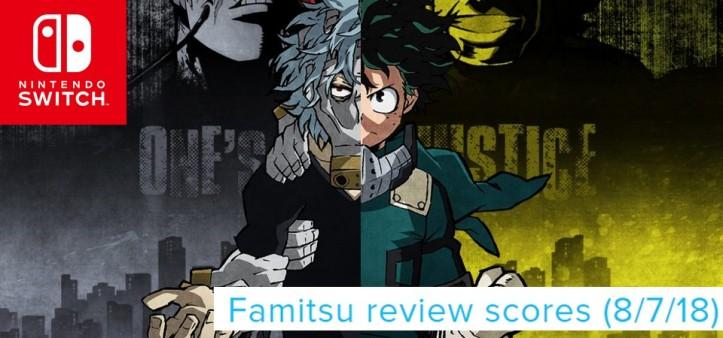 Famitsu - Review Scores (8 7 18) My Hero - One´s Justice é o destaque da semana!