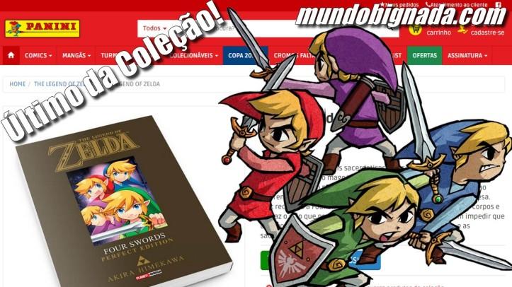 Four Swords Mangá de Zelda anunciado pela Panini - BIGNADA NEWS