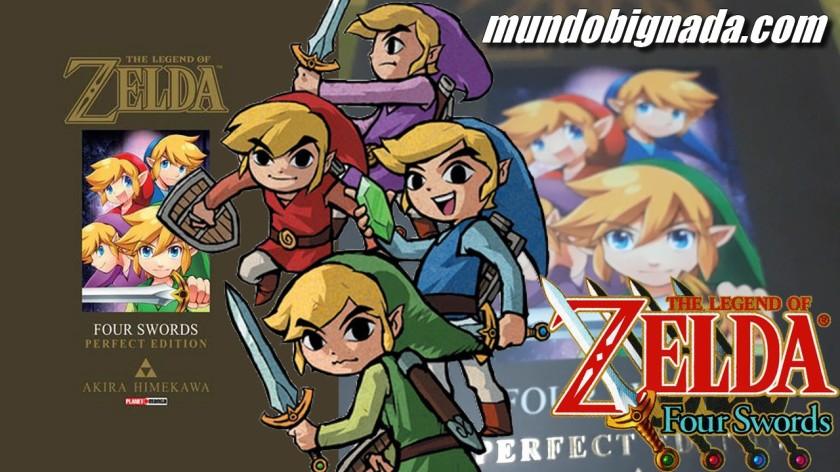 Four Swords Mangá de Zelda em mãos - BIGNADA COLLECTION