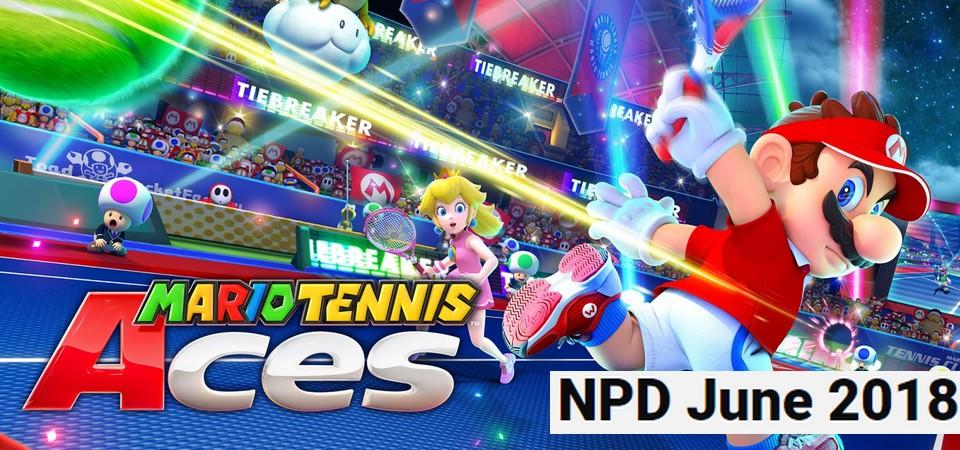 Mario Tennis Aces é o game mais vendido de junho de 2018 nos E.U.A. - NPD
