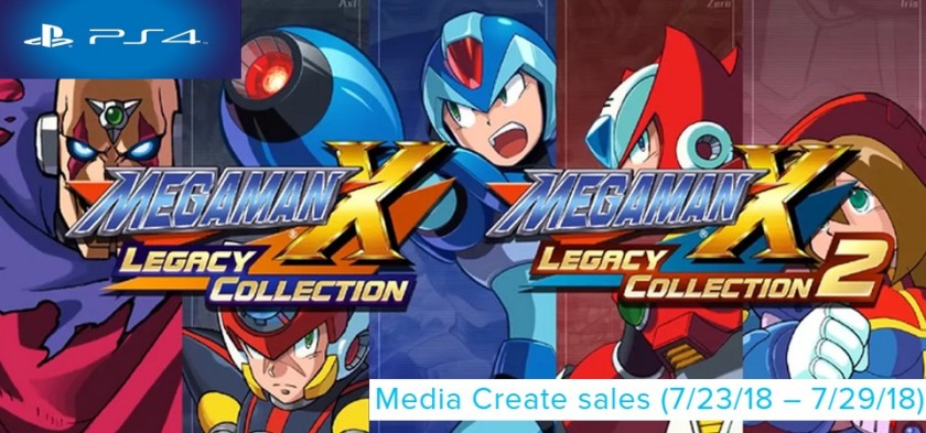 Media Create Sales (7 23 18 – 7 29 18) Mega Man X Legacy Collection 1+2 lança no topo no Japão!