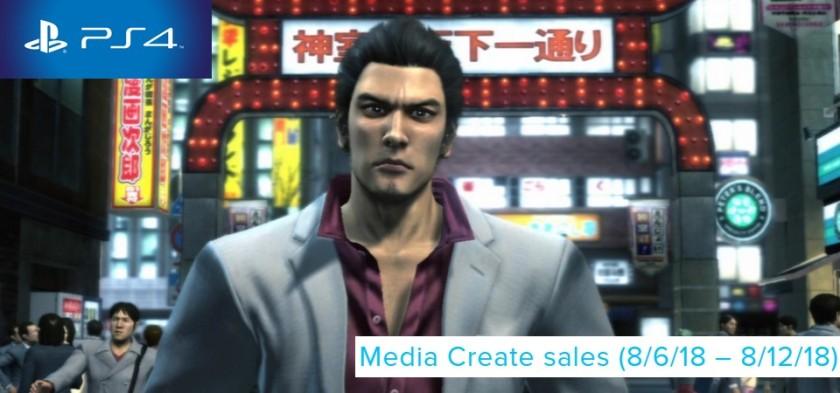 Media Create Sales (8 06 18 – 8 12 18) Yakuza 3 lança em primeiro lugar no Japão!