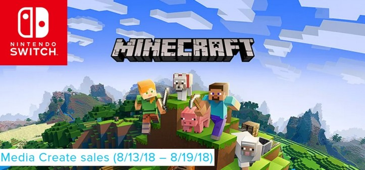 Media Create Sales (8 13 18 – 8 19 18) Minecraft foi o game mais vendido da semana!