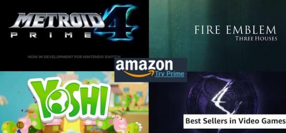 Metroid Prime 4, Fire Emblem Three Houses, Yoshi e Bayonetta 3 surgem na lista dos Best Sellers de Games da Amazon