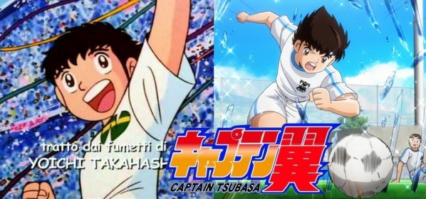 Moete Hero de Captain Tsubasa - Comparação do Tema Clássico - Original X 2018.