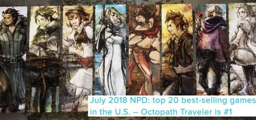 NPD Julho 2018 - Octopath Traveler foi o game mais vendido do mês