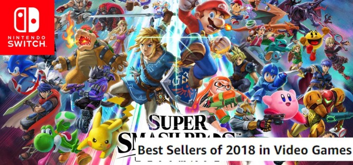 Super Smash Bros Ultimate é o game mais vendido de 2018 na Amazon