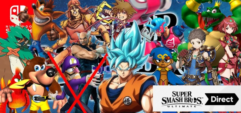 Super Smash Bros Ultimate - Personagens que podem aparecer no Nintendo Direct