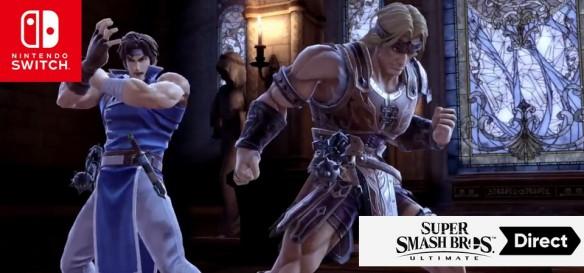 Super Smash Bros Ultimate - Trailer do Simon Belmont e Richter Belmont - Vampire Killer