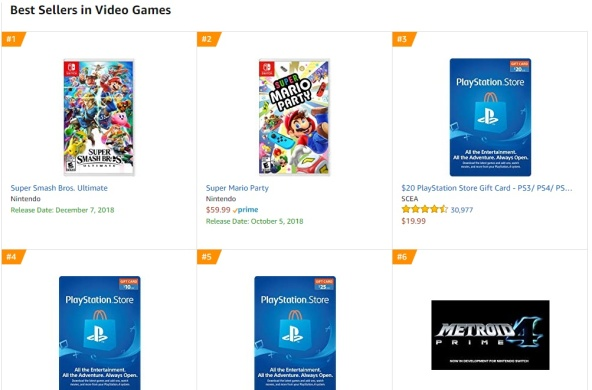 TOP 1 2 3 Amazon - Super Smash Bros Ultimate Super Mario Party Metroid Prime 4