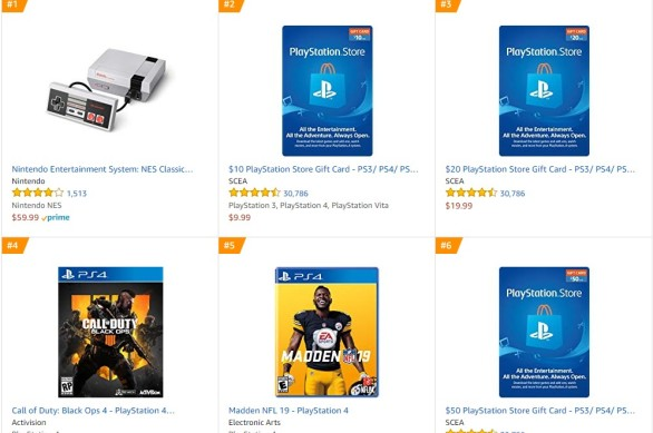 TOP 1 2 Amazon - Call of Duty Black Ops 4 Madden NFL 19