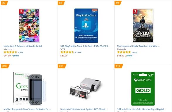 TOP 2 3 Amazon - Mario Kart 8 Deluxe The Legend of Zelda Breath of the Wild