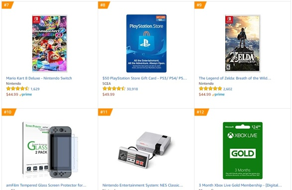 TOP 2 3 Amazon - Mario Kart 8 Deluxe The Legend of Zelda Breath of the Wild