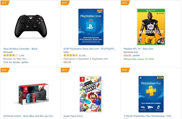 TOP 4 5 Amazon - Madden NFL 19 Super Mario Party