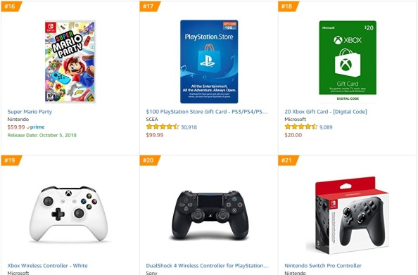 TOP 4 Amazon - Super Mario Party