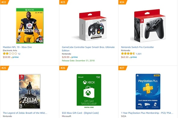 TOP 8 9 Amazon - Madden NFL 19 The Legend of Zelda Breath of the Wild