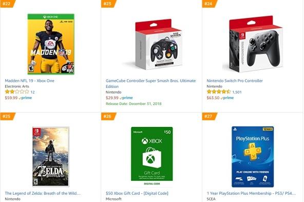 TOP 8 9 Amazon - Madden NFL 19 The Legend of Zelda Breath of the Wild