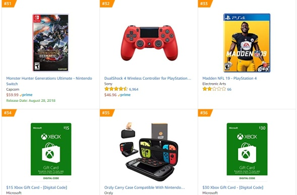 TOP 8 9 Amazon - Monster Hunter Generations Ultimate Madden NFL 19