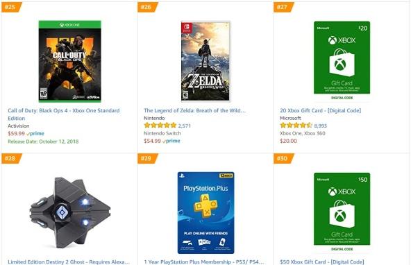 TOP 9 10 Amazon - Call of Duty Black Ops 4 The Legend of Zelda Breath of the Wild
