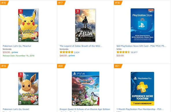 TOP 9 10 Amazon - Pokemon Let´s Go Pikachu Zelda Breath of the Wild