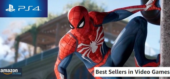 Amazon Best Sellers Games (09 02 18) - Spider-Man PS4 lidera as vendas de video-games