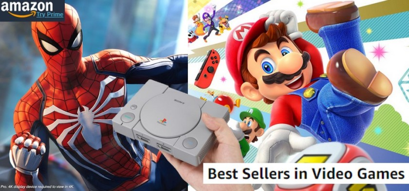 AMAZON - Best Sellers Games (09 23 18) Spider-Man e Super Mario Party no topo das vendas! Playstation Classic Mini esgotado