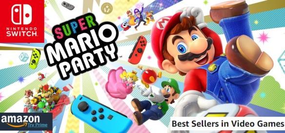 AMAZON - Best Sellers Games (09 30 18) Super Mario Party supera Spider-Man e fica em 1º lugar nos mais vendidos do E.U.A.