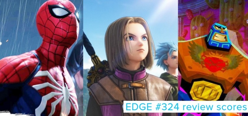 EDGE #324 - Review Scores - Spider-Man, Dragon Quest XI e Guacamelee 2 são os destaques.